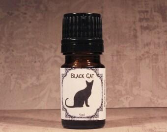 BLACK CAT Artisan Perfume Oil, Handmade Spicy Dark Perfume, Gothic Perfume, Cardamom, Cloves, Cedar Perfume Oil Blend, Unisex Perfume Oil