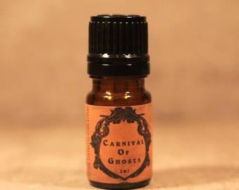 CARNIVAL OF GHOSTS™ Artisan Perfume Oil, Autumn Perfume Oil, Autumn Carnival Fragrance, Halloween Perfume, Handmade Perfume Oil
