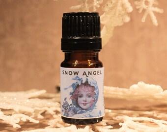 SNOW ANGEL Artisan Perfume Oil, Icy Perfume Oil, Snow Fragrance, Winter Perfume, Handmade Perfume Oil