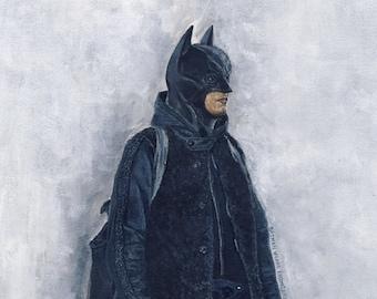 He Wears It 030 - Batman wears Engineered Garments (Original Paintings)