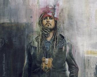 He Wears It 027 - Jack Sparrow wears Engineered Garments (Original Paintings)