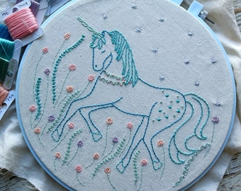 unicorn hand embroidery pattern pdf