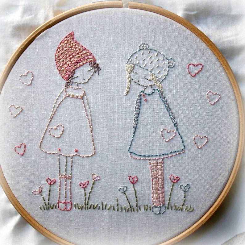 Friends hand embroidery pattern pdf image 0