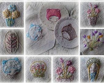 mini embroideries hand embroidery pattern PDF