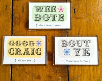 Wee Dote New Baby Card Baby Boy Irish Slang Northern Ireland