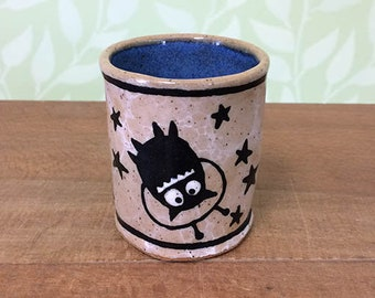 Space Monster Cup - stoneware ceramic shot glass espresso cup artwork fantasy