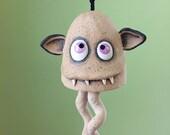 "Monster Bell ""Murray""- handmade ceramic windchime tentacles fun garden art gift"