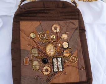 KLIMPT INSPIRED bead embroidered bag.