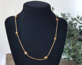 Vintage Gold Knot Avon Choker Necklace