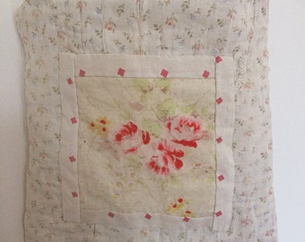 Vintage quilt fragments mini tote bag