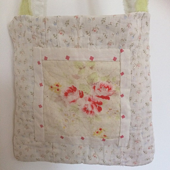 Vintage quilt fragments mini tote bag