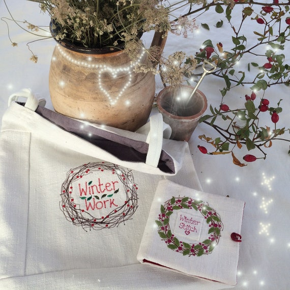 Winter Stitch Workbag and needlecase be inspired on frosty days