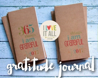 Gratitude Journal, Midori Travelers Notebook, Planner Insert, Fauxdori, Grateful Notebook, Thankful, Blessed, Thankfulness, Jotter Refill