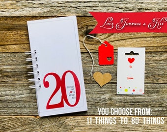 Things We Love About You, Birthday Gift,  Paper Anniversary Gift Idea, Romantic Deployment Gift, Coupon Book Gift for Him, 30 40 50 60 70 75