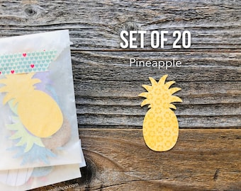 Pineapple Die Cuts, Pineapples, Pineapple Die Cut, Pineapple Paper Shapes, Paper Confetti, Scrapbooking, Ephemera, Art Journal Supplies