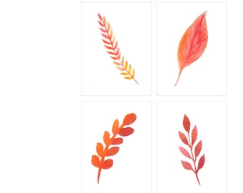 Leaves, Autumn, Fall, Fall Floral, Autumn Leaves, Leaf, Fall Leaves, Journaling Cards, Pocket Scrapbooking, Pocket Pages, Digital