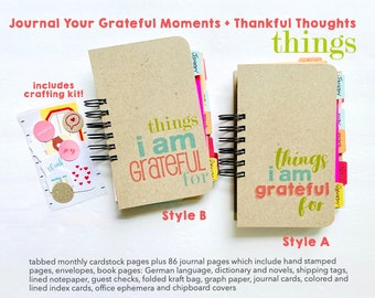NEW 2022 Gratitude Journal, Handmade Book, Things I Am Grateful For, Positive Thoughts, Mindfulness, Mixed Media Junk Journal, Daily Journal