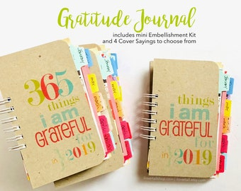 Gratitude Journal, 365 Things I Am Grateful For, Mindfulness Journal, Grateful Journal, Thankful, Thankfulness Journal, I Am Thankful For