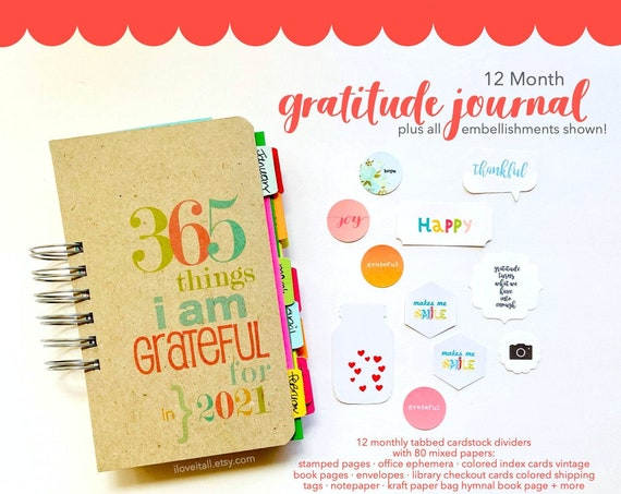 Thankful Journal, Gratitude Journal, Thankfulness Notebook, I Am Grateful, Thankfulness, 365 Things, Today I Am Thankful, I Am Grateful For