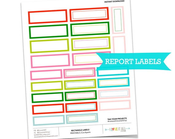 Printable Labels, Retro Label Stickers, Book Report Sticker, Printable Sticker, Label Tags, Printable Lined Labels, Junk Journaling Supplies