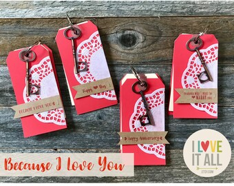 Because I Love You, Ten Things I Love About You, Card Coupon Book, Engagement Gift, Wedding Proposal, Paper Anniversary,  Deployment Gift