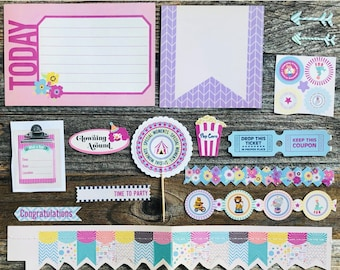 Junk Journal Kit, Set 2, Smashbook, Junque Journal, Mini Album, Mini Book, Scrapbook, Loose Paper, Journaling Cards, Project Cards, Circus