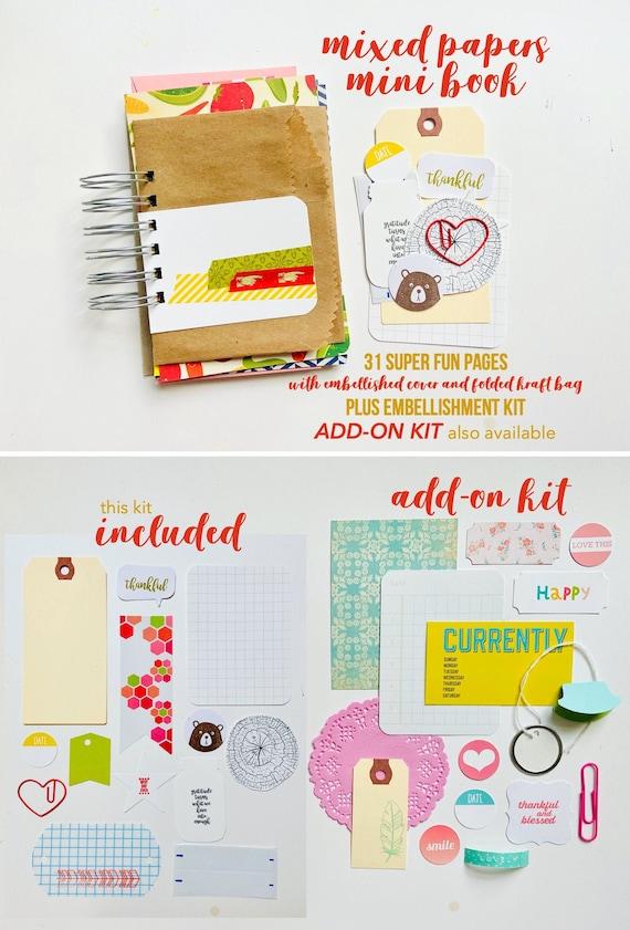 Mixed Paper Mini Book, 30 Lists Junk Journal, Mixed Media Journal, Mini Album, List Journal, Mini Album, Smashbook, Junk Journaling, Lists