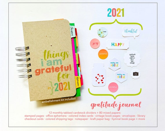 Gratitude Journal, I Am Thankful, Things I Am Grateful For, Notebook, Blessings Book, Joy and Happiness, Mindset, Positivity Journal, Diary