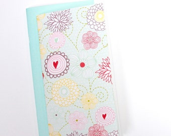 Field Notes Refill Insert . Set of 2 Listers Notebooks . Doodle Flower Spring Summer Travelers Notebook Sketch Book Journal Jotter Midori