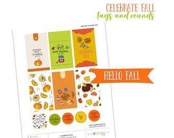 Celebrate Fall, Pumpkin Spice and Everything Nice, Cozy Autumn Days, Junk Journaling Printable Ephemera, Journaling Card, Journal Prompts