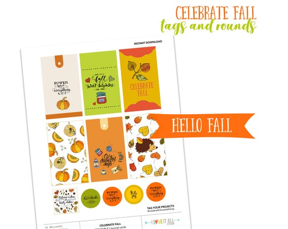 Celebrate Fall, Pumpkin Spice and Everything Nice, Cozy Autumn Days, Junk Journaling Printable Ephemera, Journaling Card, Journal Prompts