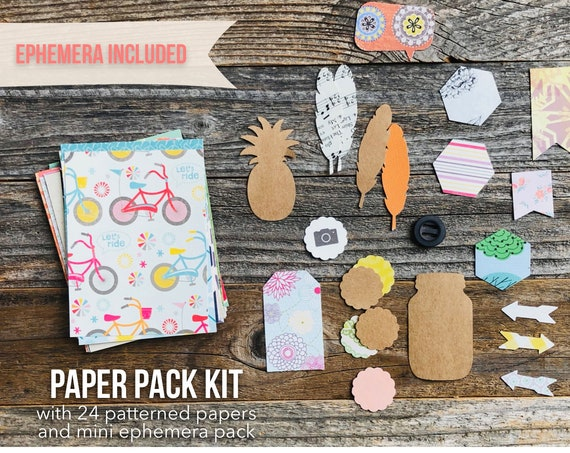 Journal Kit, Paper Pack, Paper Ephemera, Ephemera Pack, Junk Journal Kit, Scrapbook Paper, Cardstock, Journaling Cards