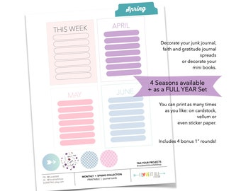 Monthly Goal Worksheet, Winter Planner Page, Monthly Goal Printable Journal Page, Junk Journaling, Printable Monthly Cards, This Week List