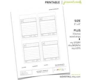 PRINTABLE | journal card