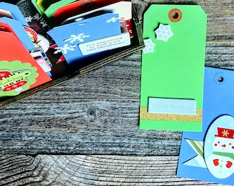 Christmas Gift Tags, Shipping Tags, Red Green, Manila Shipping Tags, Holiday Tags, Gift Packaging, Christmas Tags,