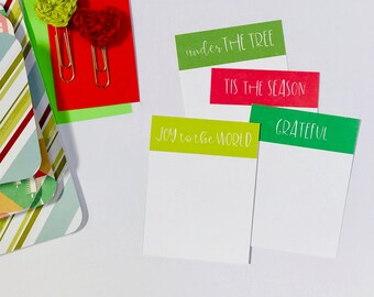 Tis the Season, Joy to the World, Under the Tree, Grateful Journaling Cards, Pocket Cards,Digital Journal Cards, Planner Supplies, Gratitude