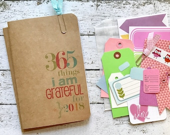 Gratitude Journal 2018 . A6 A5 Midori Pocket Passport Journal Refill Insert . Grateful Faith Thankfulness Mindfulness Travelers Notebook