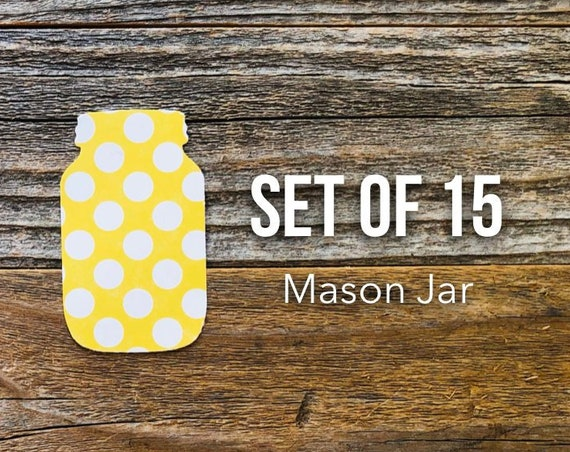 Mason Jars, Mason Jar Die Cuts, Mason Jar, Paper Die Cuts, Scrapbooking, Planner Supplies, Mixed Media, Paper Ephemera, Art Journaling