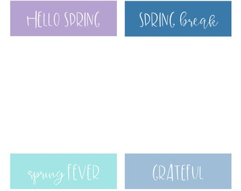 Grateful, Hello Spring, Spring Break, Spring Break, Pocket Cards, Digital Journaling Cards, Planner Supplies, Pocket Scrapbooking, Gratitude