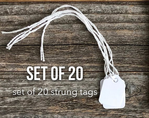 White Tags, Small Gift Tag, Junk Journal Supply, Hang Tag, Scrapbooking, Planner Supplies, Marking Tag, Gift Packaging, Tags with String