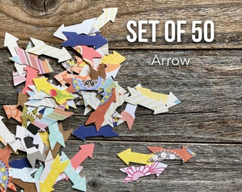 Arrow Die Cut Shapes, Paper Arrows Confetti, Paper Die Cuts, Scrapbooking, Art Journaling, Card Making Cardmaking, Paper Ephemera, Arrows