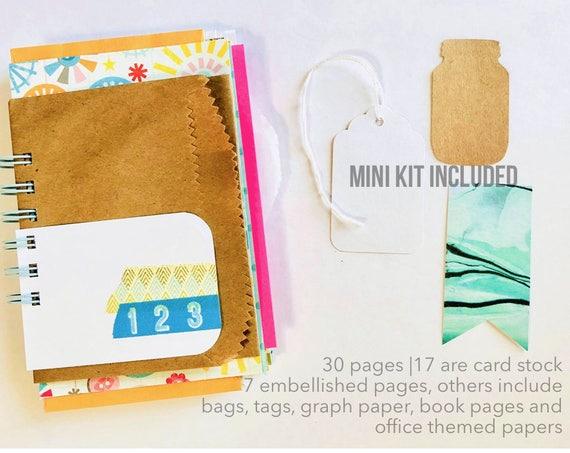 Spring Journal, 30 Days of Lists, 30 Lists, Smashbook, Scrapbook, Mini Book, Mixed Media Art Journal, Mini Album,