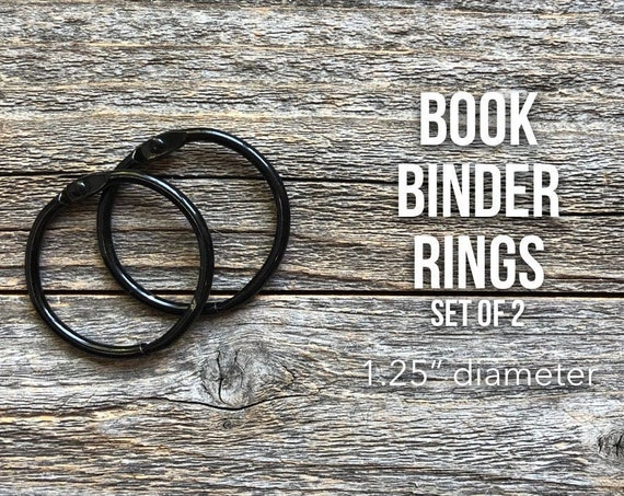 Black Rings, Black Book Rings, Metal Book Binder Hinge, Binding Ring, Snap O Ring, Binder Rings, Silver Binder Ring, Bindery Ring, Book Ring