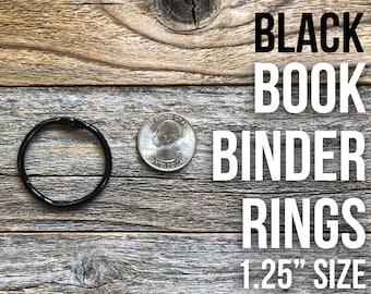 Black Book Binder Ring Hinges,, Large Oversized Book Rings, Binding Ring, Snap O Ring, Binder Rings, Silver Binder Ring, Round Bindery Ring
