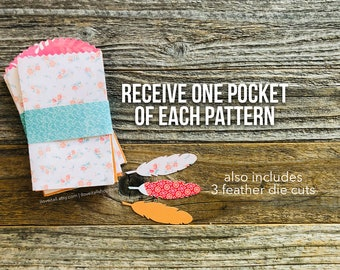 Tag Pockets, Scallop Edge, Junk Journal Supplies, 3 Scalloped Edge Pockets, Junk Journal Pockets, Scrapbooking, Paper Ephemera, Cardstock