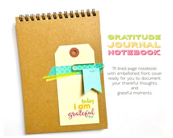 Gratitude Journal Notebook, Reflections Journal, Today I Am Grateful For, Happiness, Positivity, Thankful Notebook, Mindfulness, Mindset
