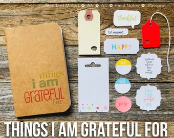 Gratitude Journal, Things I Am Grateful For, Midori Travelers Notebook, Planner Insert, Grateful Notebook, Thankful, Blessed, Thankfulness