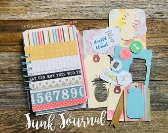 Junk Journal, Gratitude Journal, Reflection Journal, Mixed Paper Journal, Thankfulness, I Am Grateful For, Gratitude Notebook, Grateful Book