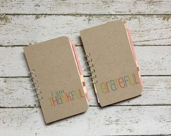 Gratitude Journal, Skinny Mini, Grateful Mini Book, I Am Thankful, Thankfulness, Thankful Notebook, Journal, Thankfulness, Gratitude