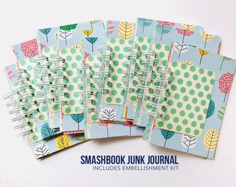 Junk Journal, Smashbook, Junque Journal, Travel Album, Notebook, Mini Book, Scrapbook, Mini Album, Paper Lanterns, Mixed Media Notebook